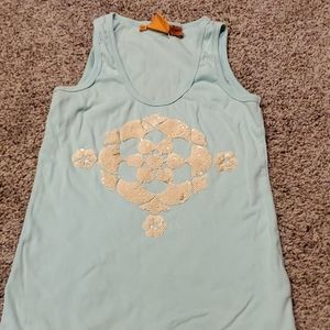Tory Burch sequin accented tank